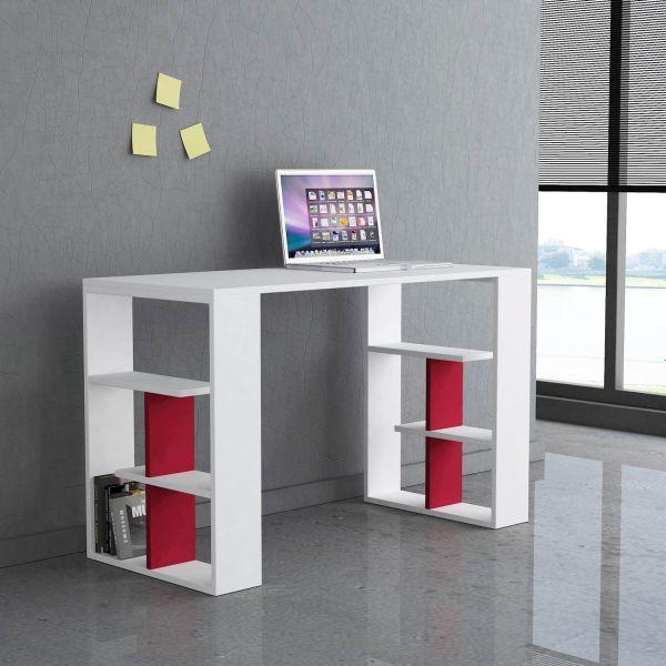 scrivania per ragazzi con libreria 120x50 cm