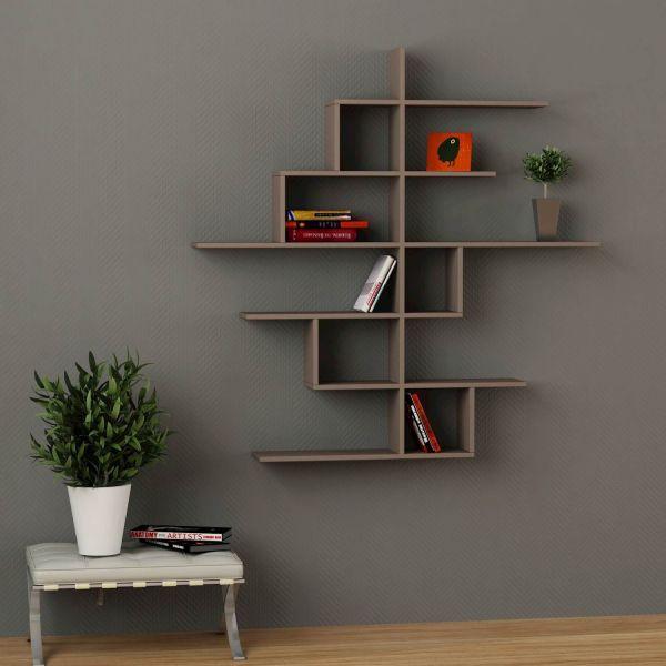 Durban libreria scaffale da parete mensole design in legno for Ikea mensole da muro