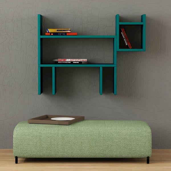 Beagle libreria da parete per cameretta ragazzi lunghezza 80 cm