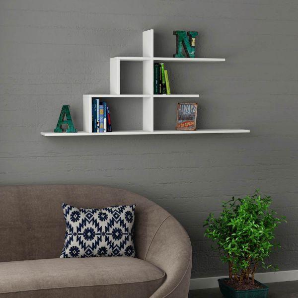 Akinori libreria sospesa mensole design in legno 150 x 75 cm
