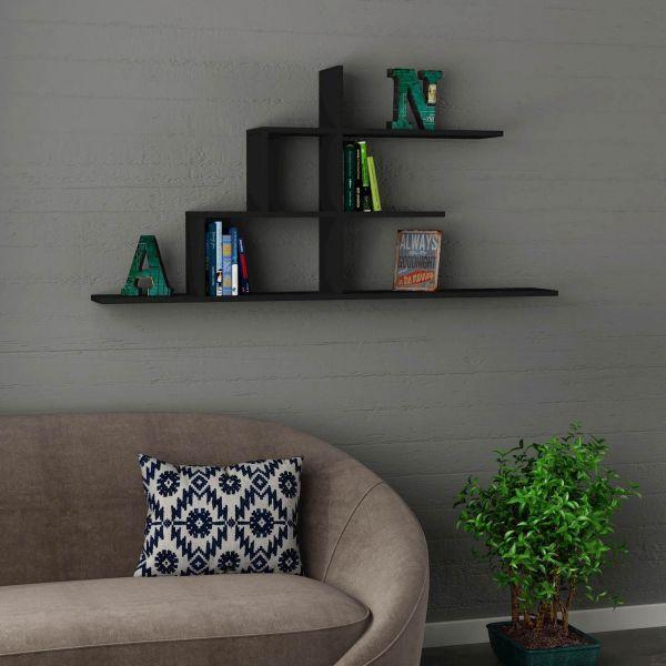 AKINORI libreria da parete SOSPESA con mensole DESIGN in legno 150 x ...