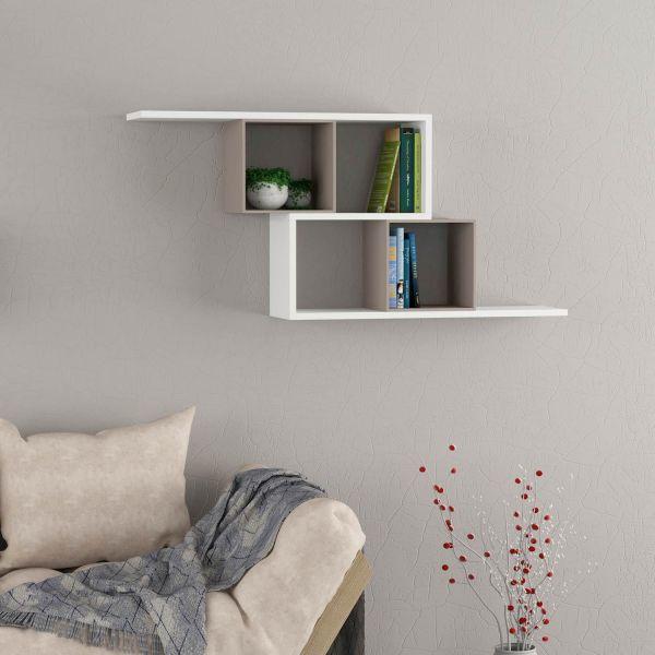 Gekko libreria a cubi sospesa design moderno 125 x 55 cm