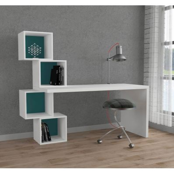 Jeremy scrivania design per cameretta ragazzi bianca 140 x for Scrivania design outlet