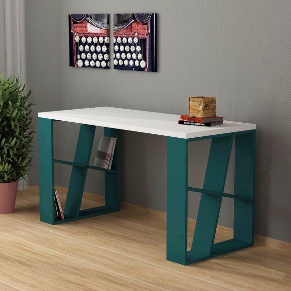 Kevin scrivania con libreria per ragazzi design moderno 140 x 60 cm