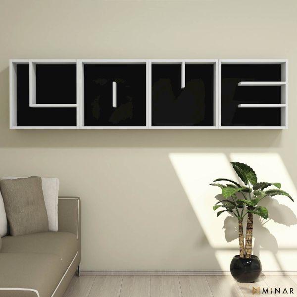 Love libreria a parete con cubi a forma di lettera