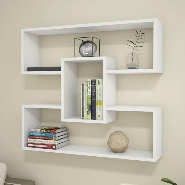 Mensola libreria da parete bianca 90 cm Darcy