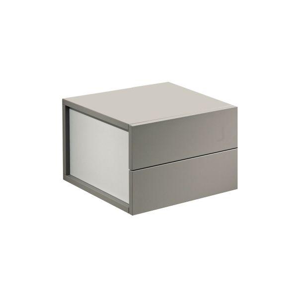 Pensile cassettiera a parete in laminato design moderno Due
