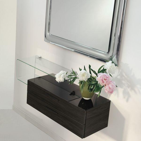Mobili ingresso moderni con specchiera mensola e cassettone Flexi-19