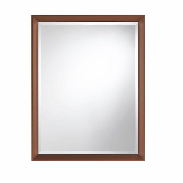 Specchio rettangolare da parete 70 x 90 cm con cornice in alluminio Riflesso