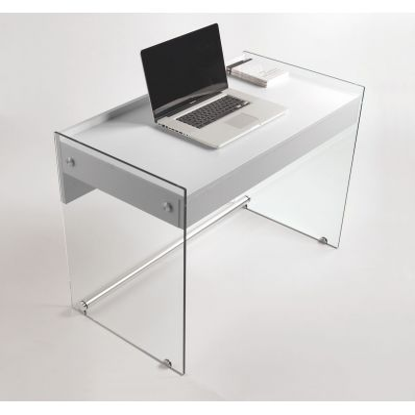 Scrivania per computer in vetro e laminato 100 cm Mydesk