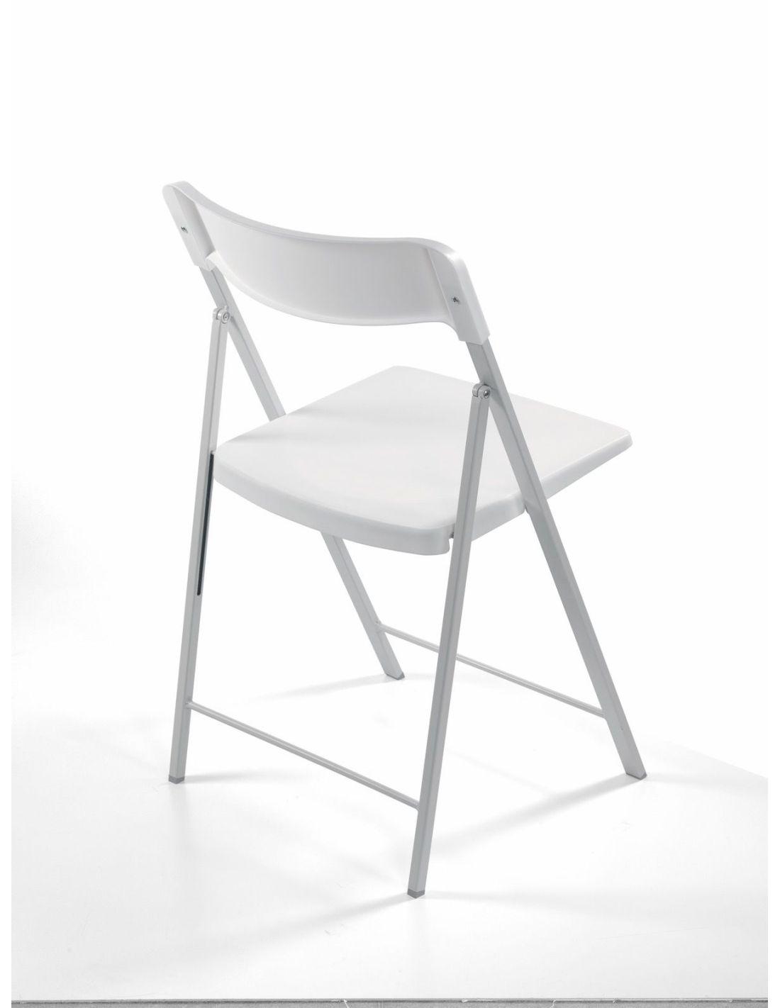 Sedie Di Plastica Pieghevoli.6 Sedie Pieghevoli Salvaspazio In Acciaio E Plastica Zeta