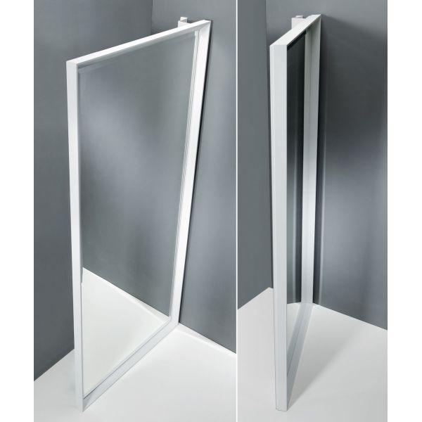 Specchiera Rettangolo Riflesso ad anta con cornice in alluminio