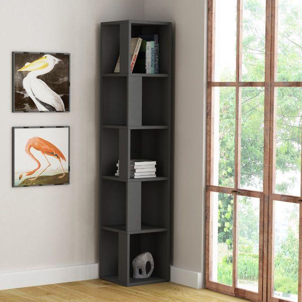 Kendal libreria verticale ad angolo salvaspazio