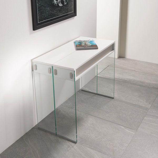 Consolle tavolo da pranzo City Big in vetro e laminato 270 cm