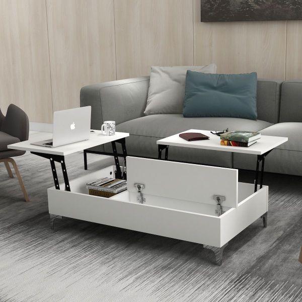 Karib tavolino da salotto con vano contenitore porta oggetti