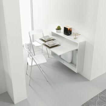 Tavoli consolle allungabili in vetro e in legno smart for Scrivania richiudibile