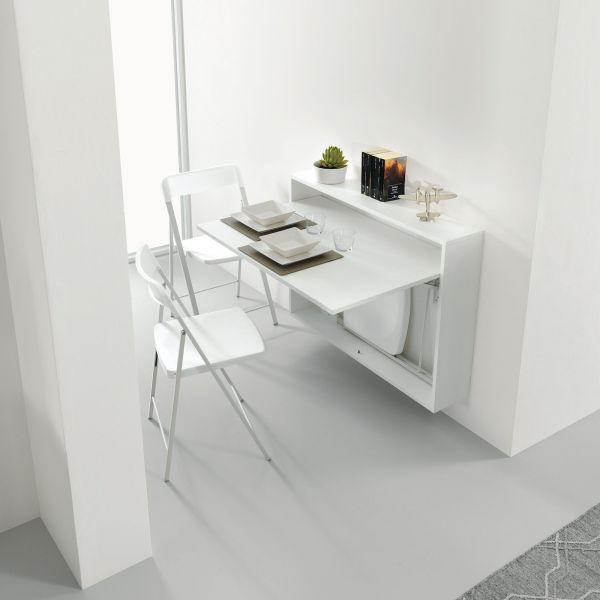 Bureau tavolo estraibile scrivania salvaspazio for Scrivania a scomparsa a parete