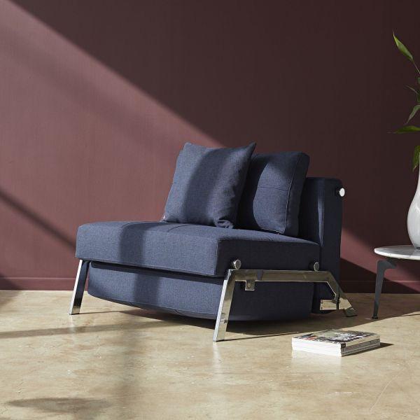 Poltrona letto trasformabile letto singolo design moderno Cubed
