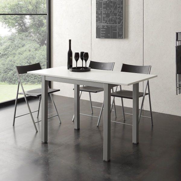 Tavolo allungabile in metallo e nobilitato 90 x 60 cm Ingmar
