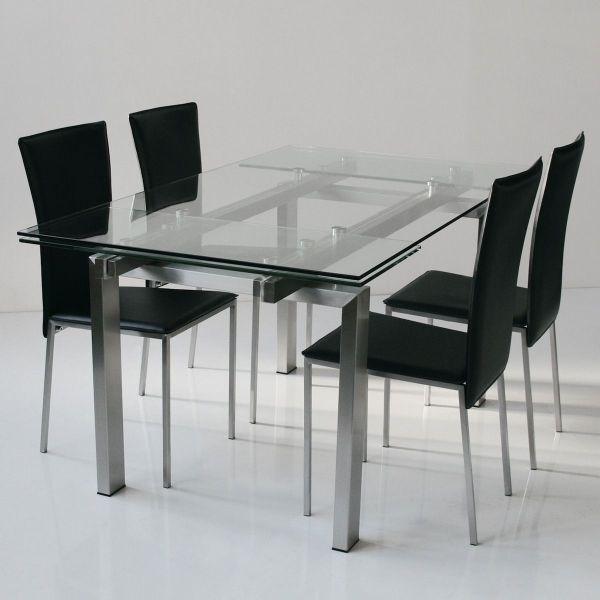 Tavolo allungabile design soggiorno 160x90 cm Kaio