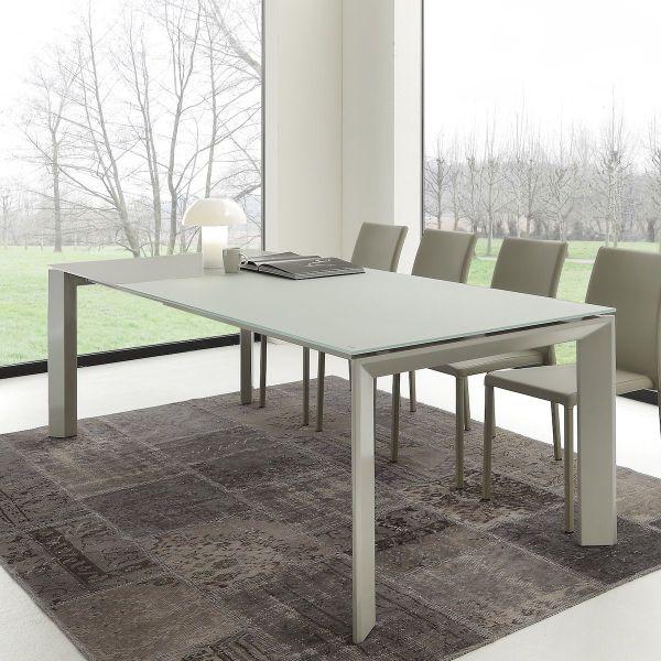 Tavolo allungabile per soggiorno/ufficio Antero 140x90 cm