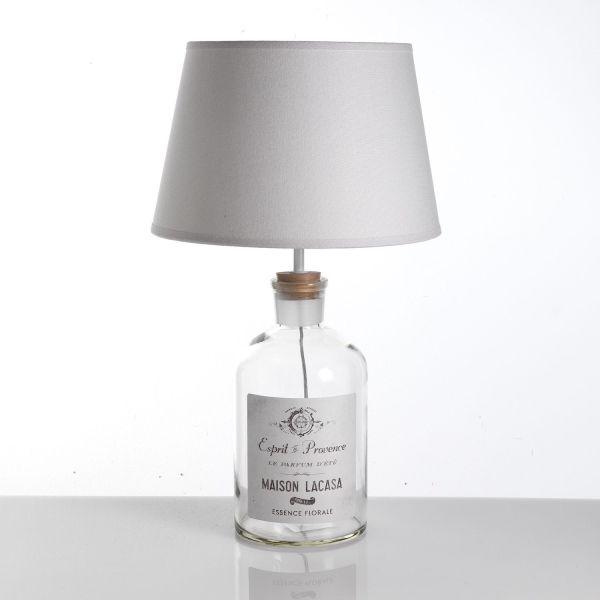 Lampada da tavolo Flask in vetro a forma di bottiglia