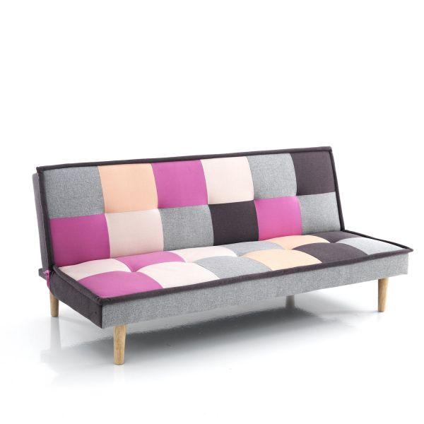 Divano letto Clic Clac in tessuto multicolor design moderno Jorgen