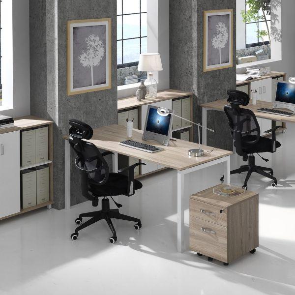 Scrivania per ufficio rettangolare 140 o 160 cm Vidar
