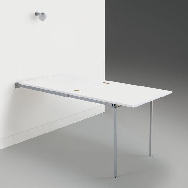 Tavoli A Scomparsa A Muro.Dettagli Su Tavolo A Scomparsa A Muro Ribaltabile Con Piano In Nobilitato Vegard