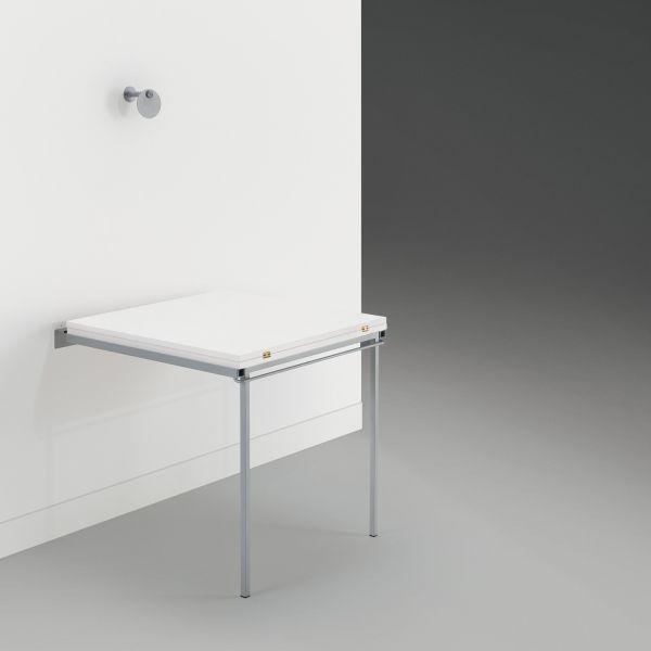 Tavolo A Scomparsa A Muro Ribaltabile Con Piano In Nobilitato