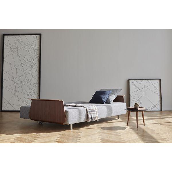 Divano letto design scandinavo LONGHORN con braccioli matrimoniale ...