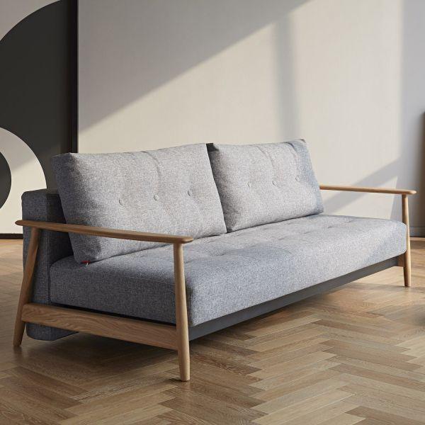 Divano letto per uso quotidiano design scandinavo Eluma