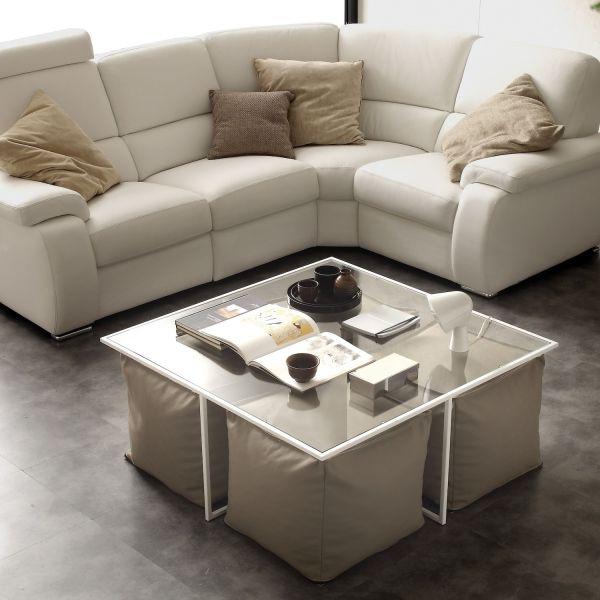 Tavolino da salotto in metallo e vetro Sitty Box