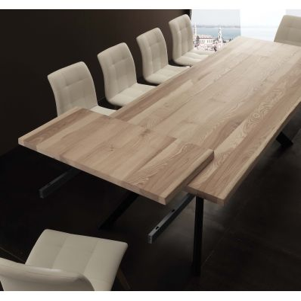 Tavolo allungabile Gatien in legno massello 200 x 100 cm