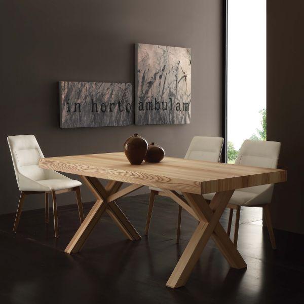 Tavolo Da Pranzo Allungabile Cales In Legno Massello Di Frassino 180 X 90 Ebay