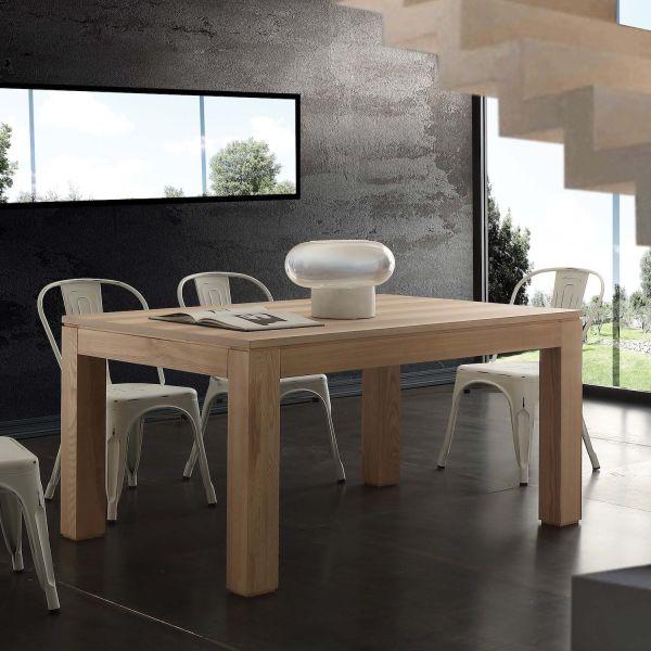 Tavolo allungabile in legno frassino olivato 140x90 cm Ferran