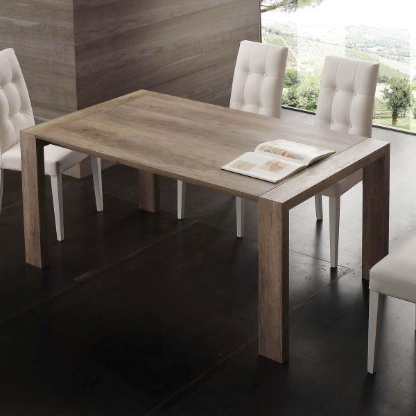 Tavolo allungabile design moderno in legno 140 o 160 cm Alwin