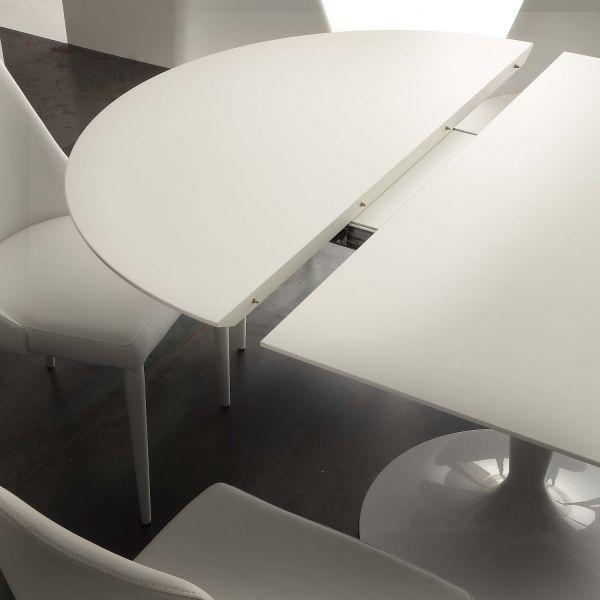 Tavolo Da Pranzo Allungabile Rotondo Sulevi Con Gamba Centrale 120 Cm Ebay