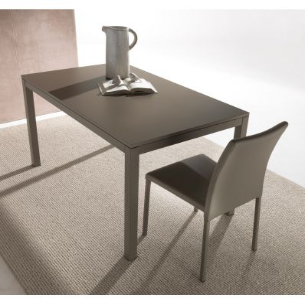 Tavolo allungabile moderno grigio tortora Edvard