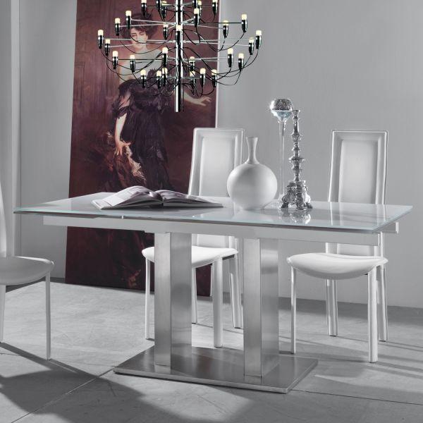 Sedia schienale alto in ecocuoio design moderno Onerva