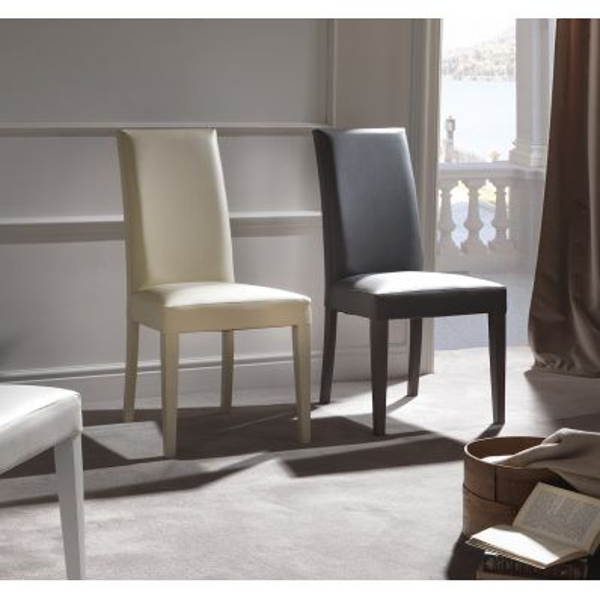 Sedia con schienale alto design moderno Amabel