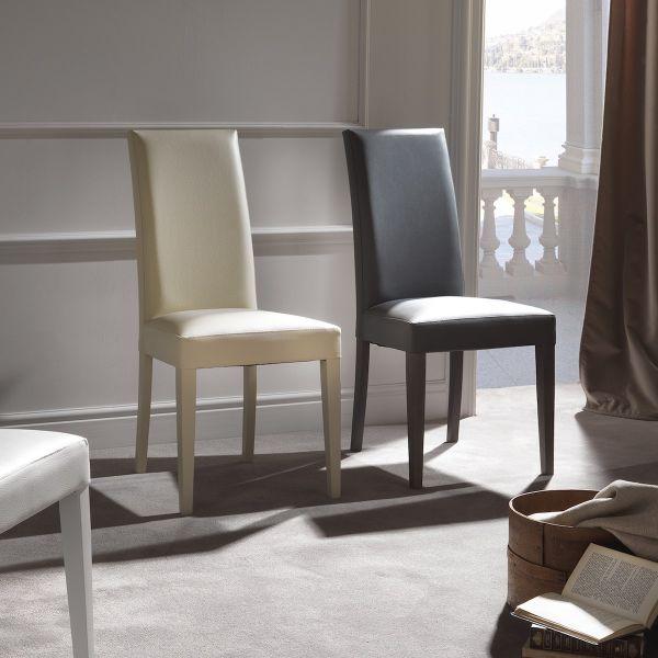 Sedie Design Schienale Alto.Sedia Design Con Schienale Alto Moderna Amabel Per Sala Pranzo Ebay