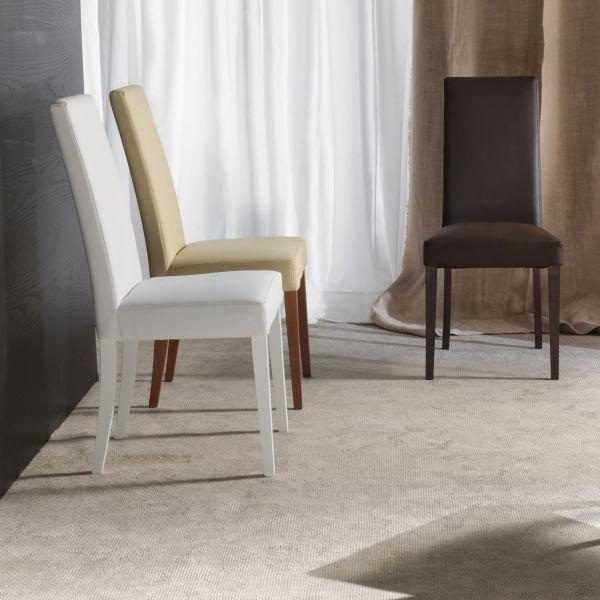 Sedia con schienale alto arredo design bindy for Sedia design schienale alto