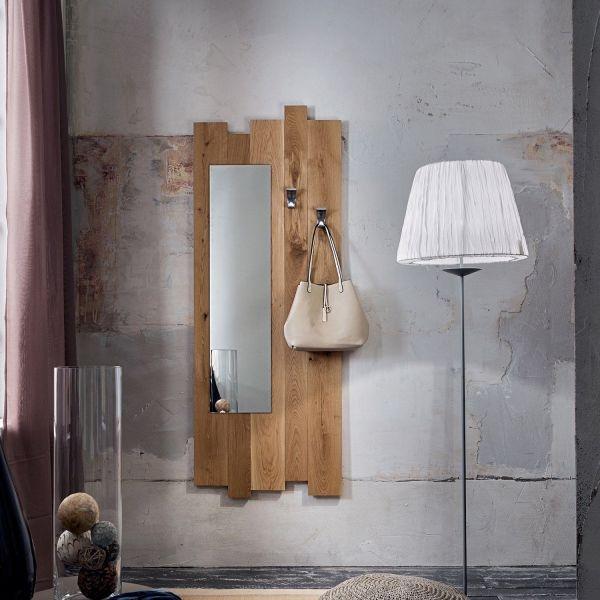 Specchio da ingresso in legno massello design moderno Elias 2