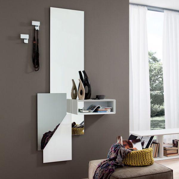 Specchio per ingresso moderno con attaccapanni Armas