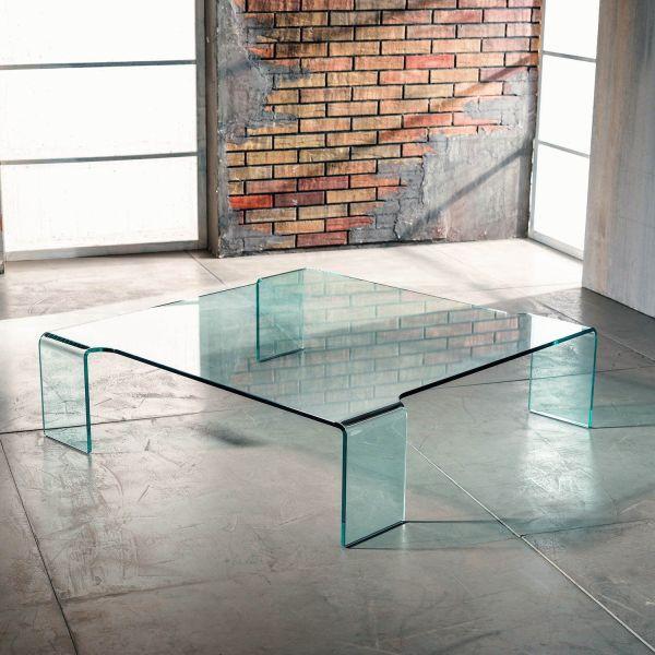 Tavolino in vetro curvato Addison da soggiorno