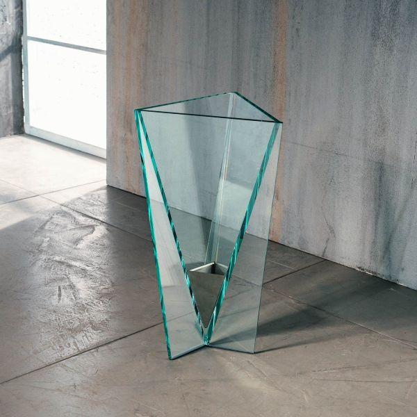 Portaombrelli design moderno in vetro trasparente Elimar