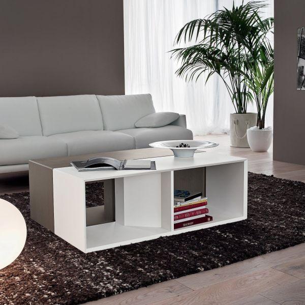 Tavolino da salotto desing moderno in legno Raimo
