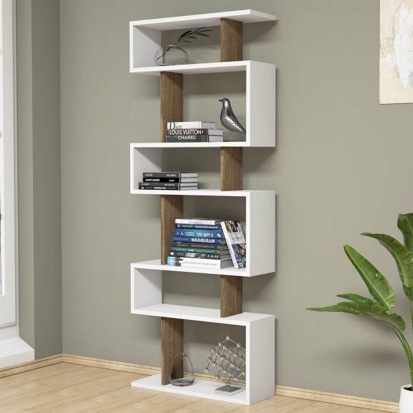 Libreria a colonna design moderno 60 x 150 cm Floyd Bicolor