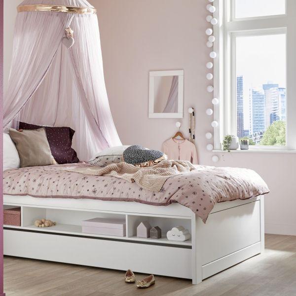 Cameretta bambini salvaspazio in legno laccato bianco Cabin Bed